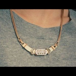 Keep Collective Leather Rose Gold Necklace